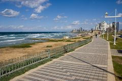 Tel-Aviv promenade. By the sea royalty free stock photography