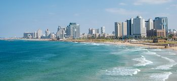 Tel Aviv. Promenade and beach in Tel Aviv royalty free stock images