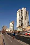 Tel Aviv Promenade, Israel. TEL AVIV, ISRAEL - SEPTEMBER 1, 2015: View of Tel Aviv beach promenade with modern hotels and buildings in Tel Aviv, Israel Royalty Free Stock Image