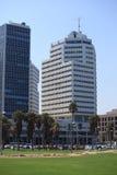 Tel Aviv Promenade with Skyscrapers, Israel Royalty Free Stock Photos