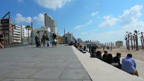 Tel Aviv promenade in Tel Aviv Israel stock footage