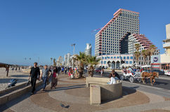 Tel Aviv promenade in Tel Aviv Israel Royalty Free Stock Images