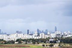 Tel Aviv and  Ramat Gan. Royalty Free Stock Images