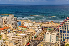 Tel Aviv riviera aerial view Stock Photo