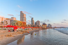Tel Aviv riviera and hotels Stock Photography