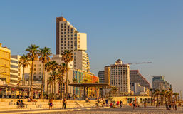 Tel Aviv riviera and hotels Royalty Free Stock Photo