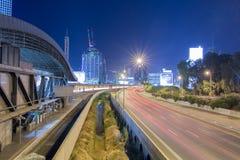 Tel Aviv Road 20 at Night Stock Images