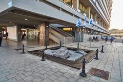 Tel Aviv - 10 02 2017: Sławny Yitzhak Rabin kwadrat, dnia czas Zdjęcie Stock