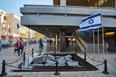 Tel Aviv - 10 02 2017: Sławny Yitzhak Rabin kwadrat, dnia czas Zdjęcia Stock