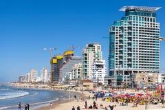 Tel Aviv`s coastline Stock Photography