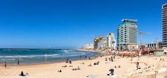 Tel Aviv`s coastline Royalty Free Stock Photos
