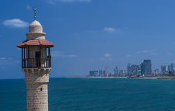 Tel aviv seascape Royalty Free Stock Images
