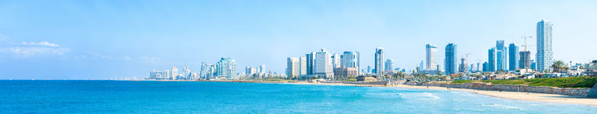 Tel Aviv seashore panorama Stock Photos