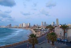 Tel Aviv seaside. Evening view of Tel Aviv seaside, Israel Stock Photo