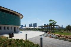 Tel Aviv sikt från Eretz Israel Museum Arkivfoto