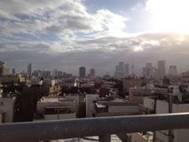 Tel aviv sky Royalty Free Stock Photos
