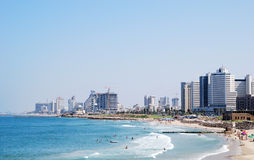 Tel Aviv skyline Royalty Free Stock Images