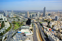 Tel Aviv Skyline. Aerial skyline of Tel Aviv, Israel Stock Photos