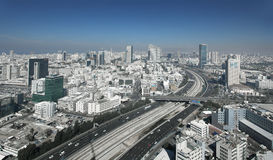 Tel Aviv Skyline Stockfotos