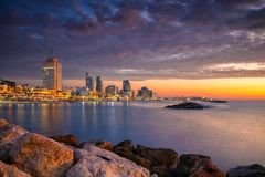 Tel Aviv skyline. stock image