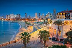 Tel Aviv Skyline. royalty free stock image