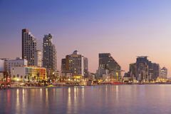 Tel Aviv Skyline. Image of Tel Aviv, Israel during sunset stock photo