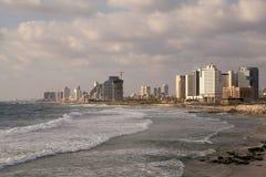 Tel Aviv. Skyline from Jaffa and seascape Royalty Free Stock Photos