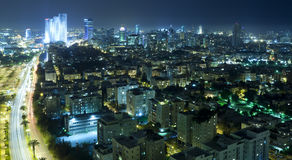 Tel Aviv Skyline at Night Royalty Free Stock Photography