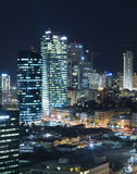 The Tel aviv skyline - Night city Royalty Free Stock Photography
