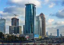 Tel Aviv  Skyline at night Royalty Free Stock Photography