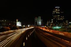 Tel Aviv skyline photo at night Stock Images