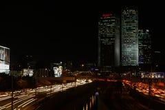 Tel Aviv skyline photo at night Stock Photography
