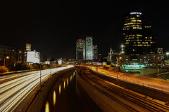 Tel Aviv skyline photo at night Stock Image