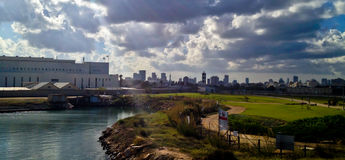 Tel Aviv skyline Stock Photo