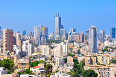Tel Aviv Skyscrapers, Israel. A view of Tel Aviv the largest city in Israel Stock Images