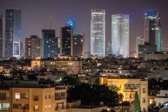 Tel Aviv skyskrapor Royaltyfri Foto