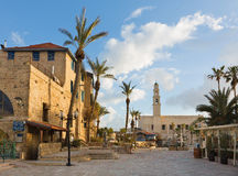Tel Aviv - The st. Peters church in old Jaffa on Kedumim Square. Royalty Free Stock Photo