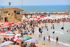 Tel Aviv strand Royaltyfri Bild