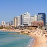 Tel Aviv strand Arkivfoto
