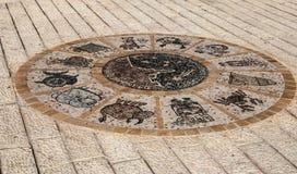 Tel. Aviv Street Sign Horoscope royalty-vrije stock afbeeldingen