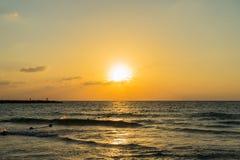 Tel. Aviv Sunset Royalty-vrije Stock Afbeelding