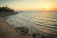 Tel Aviv at sunset. View of the Jaffa in Tel Aviv at sunset Royalty Free Stock Photo