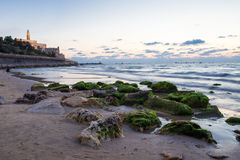 Tel Aviv at sunset. View of the Jaffa in Tel Aviv at sunset Stock Photography