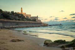 Tel Aviv at sunset. View of the Jaffa in Tel Aviv at sunset Royalty Free Stock Photos