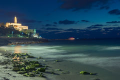 Tel Aviv at sunset. View of the Jaffa in Tel Aviv at sunset Stock Photos