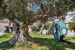 Tel Aviv - 10 02 2017: Tel Aviv muzeum sztuki powierzchowność i sztuki monu Zdjęcia Royalty Free