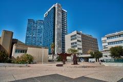 Tel Aviv - 10 02 2017: Tel Aviv muzeum sztuki powierzchowność i sztuki monu Zdjęcia Stock