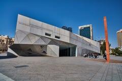Tel Aviv - 10 02 2017: Tel Aviv muzeum sztuki powierzchowność i sztuki monu Obraz Stock