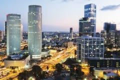 Tel Aviv und skycrapper Stockfotos