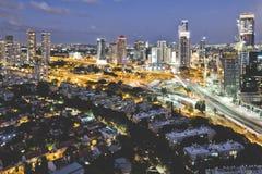Tel Aviv und skycrapper Lizenzfreies Stockfoto
